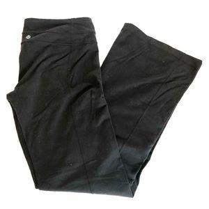 LULULEMON Black Wide Leg Athletic PANT LEGGINGS 10